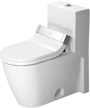 starck 2 toilet wall mounted 253309 duravit. Black Bedroom Furniture Sets. Home Design Ideas