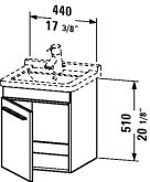 XL 6525 L/R Vanity unit wall-mounted