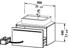 XL 6713 Vanity unit for console