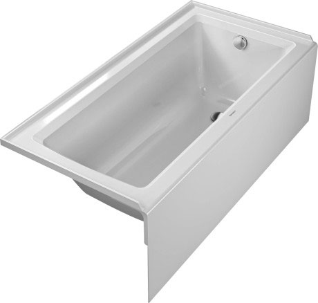 duravit architec bath whirltubs bathtub with panel