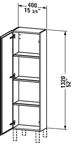 Duravit Lc1168 L Cube 15 3 4 X 9 1 2 Inch Semi Tall