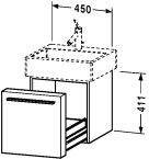 FO 9553.stock Vanity unit wall-mounted
