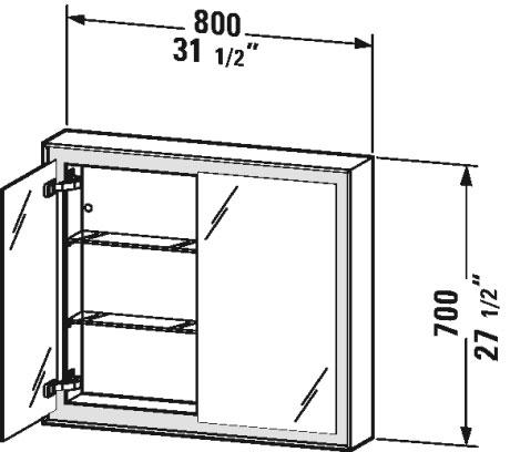 L Cube Mirror Cabinet Lc7551 Duravit