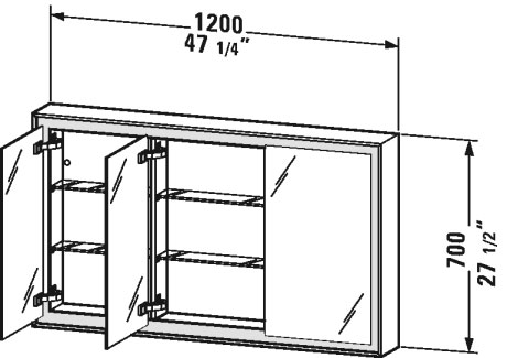 L Cube Mirror Cabinet Lc7553 Duravit