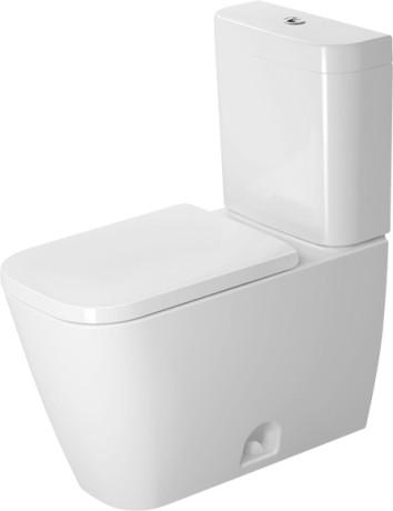 white toilet with black seat. Two Piece toilet Duravit Rimless  Happy D 2