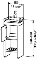 2F 6455.stock L/R Vanity unit floor-standing