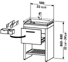 2F 6456.stock Vanity unit floor-standing