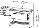 2F 6458.stock Vanity unit floor-standing