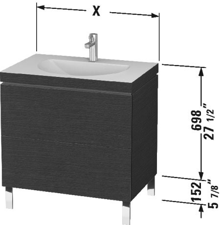 Furniture Washbasin C Bonded With Vanity Floorstanding, LC6910 N/O/T