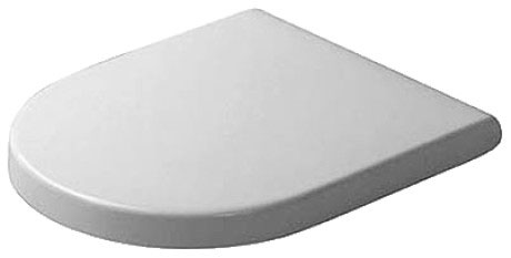 black and white toilet seat. Toilet seat and cover Starck 3  006381 Duravit