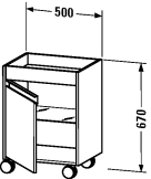 KT 2530 L/R Mobile storage unit