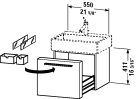 FO 9554.stock Vanity unit wall-mounted