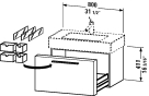 FO 9572.stock Vanity unit wall-mounted