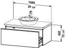 DN 6468 Vanity unit wall-mounted