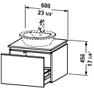 DN 6863 Vanity unit wall-mounted