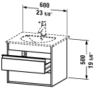 KT 6632 Vanity unit wall-mounted