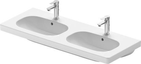 D-Code Double furniture washbasin #034812   Duravit   {Doppelwaschbecken oval 8}
