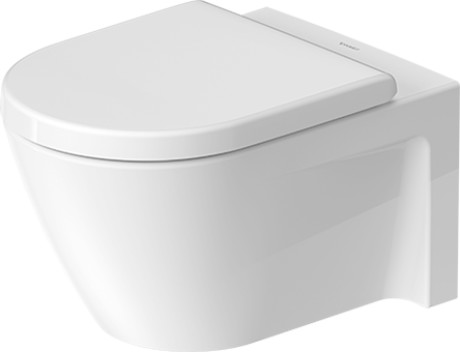 Duravit starck 2 toilets toilet wall mounted 253409 by for Duravit architec toilet