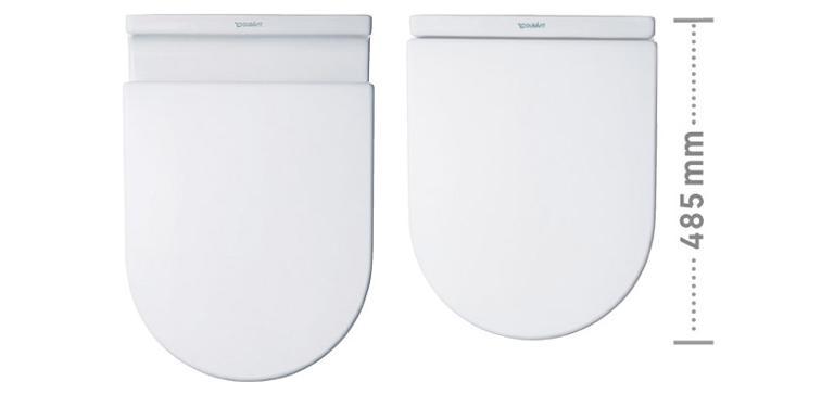 Starck 3 Toilet wall-mounted Compact #222709 | Duravit