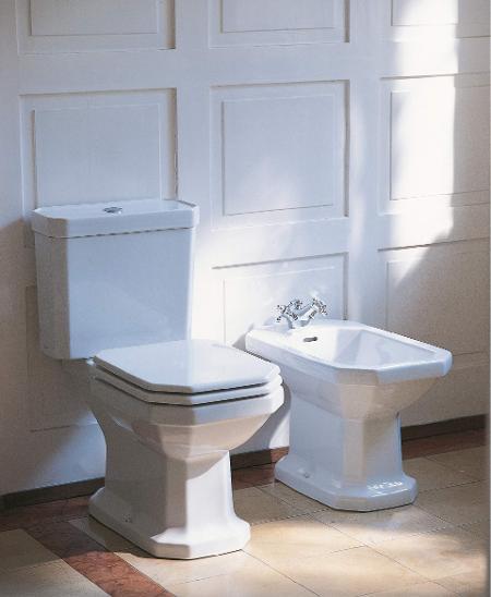 Duravit 1930 series: Toilets, sinks & more | Duravit on decorating styles 1930 s, tile desgins 1930 s, bathroom tile designs from 1930,