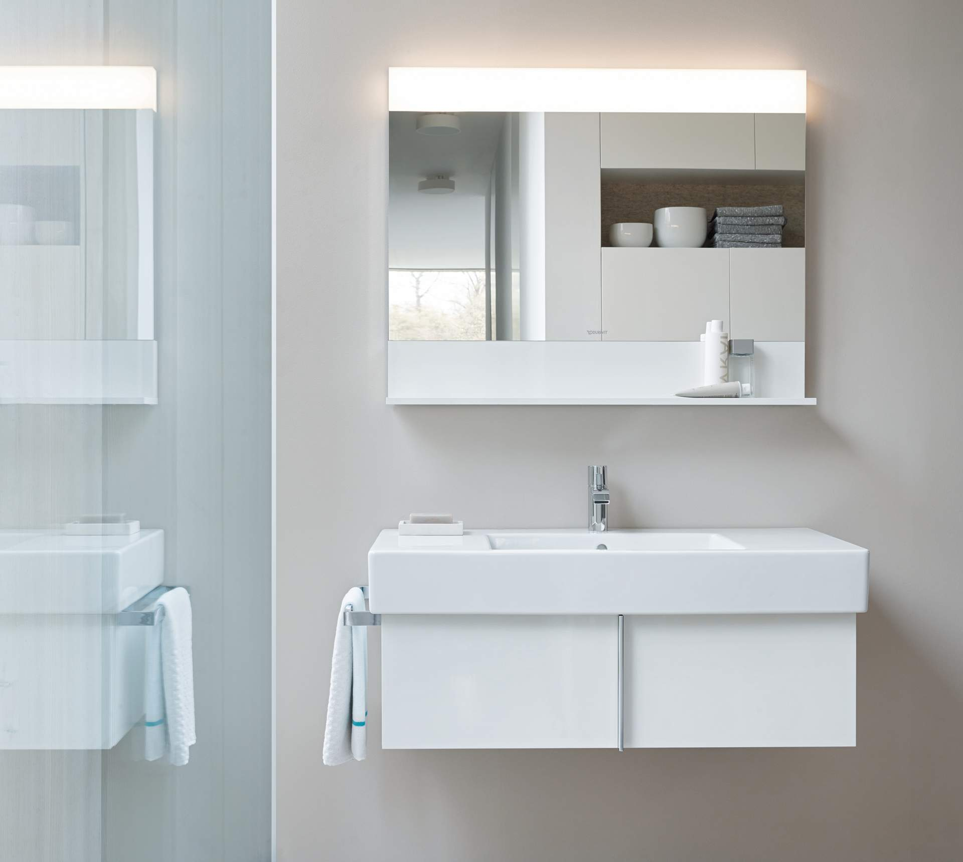 Bon Mirror Cabinets And Mirrors With Lighting   Duravit