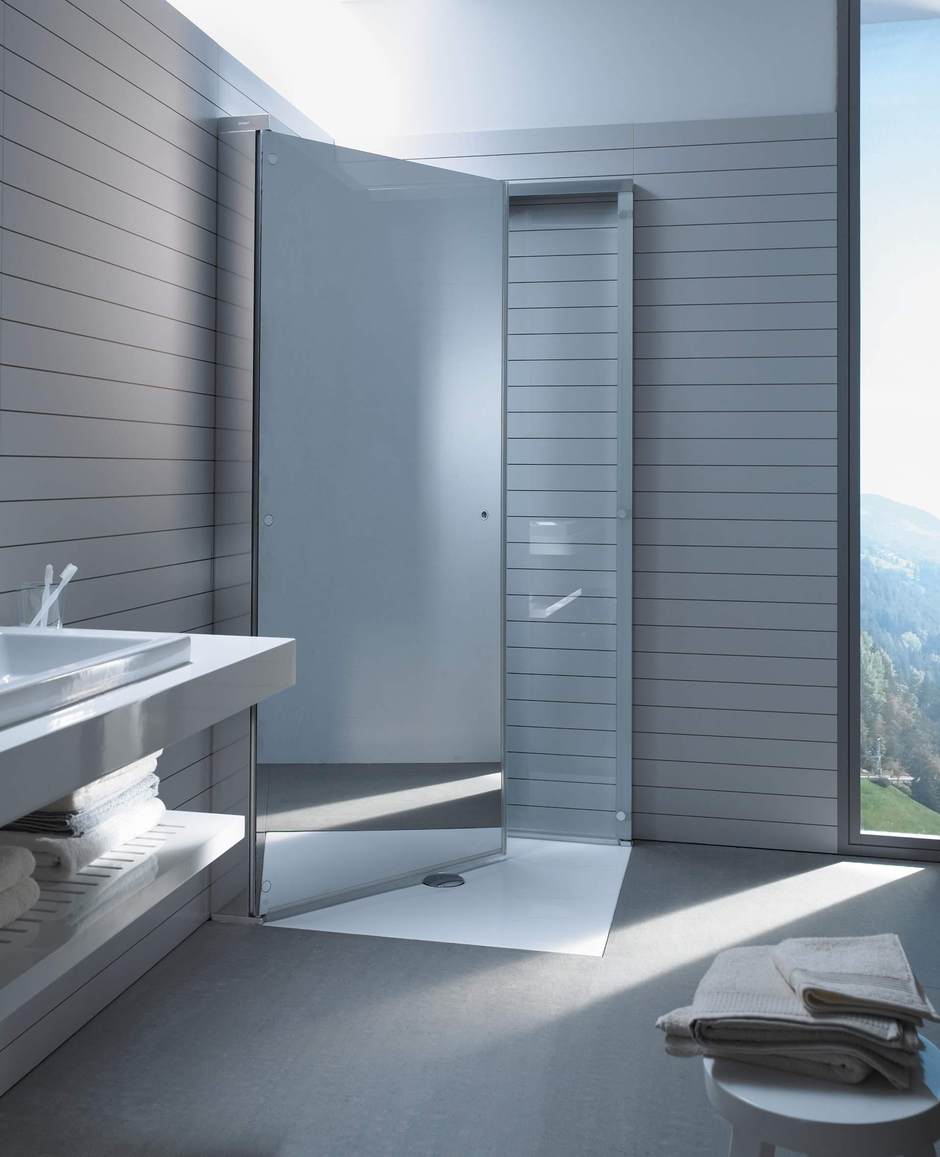 duschabtrennung duschtrennwand aus glas duravit. Black Bedroom Furniture Sets. Home Design Ideas