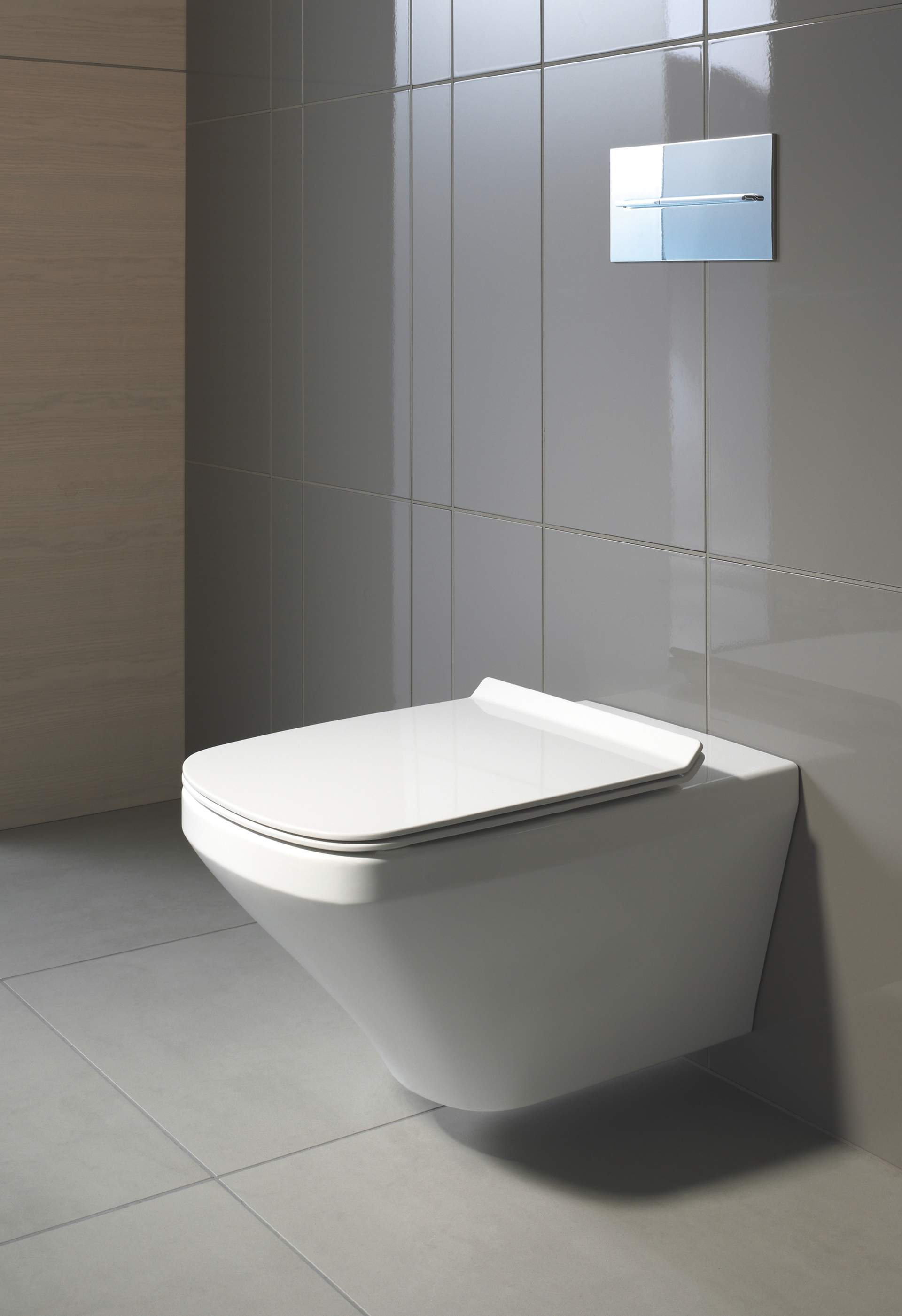 wc mosa tiles tegels grey floor bathroom toiletpot toilet badkamer mat hellgrau matte pin muurtje white