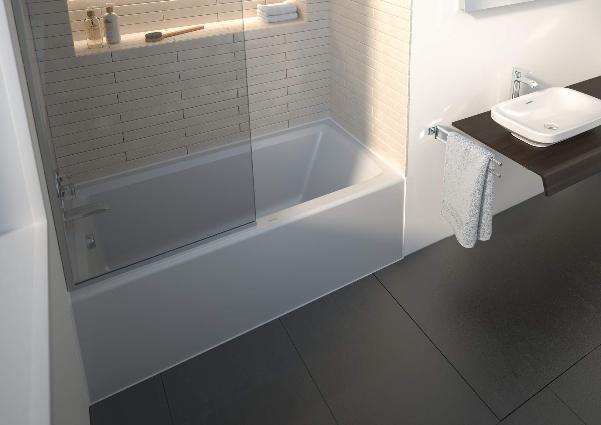 Architec Duravit - Alcove soaking tub with shower
